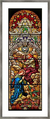 Framed Print featuring the photograph Stained Glass Scene 7 Crops by Adam Jewell