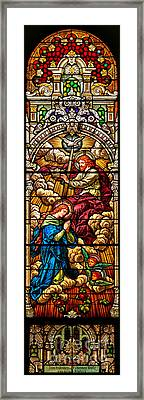 Framed Print featuring the photograph Stained Glass Scene 8 by Adam Jewell
