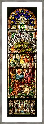 Framed Print featuring the photograph Stained Glass Scene 9 by Adam Jewell