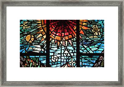 Framed Print featuring the photograph Stained Glass Sun by Michael Flood