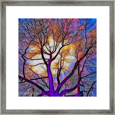 Stained Glass Sunrise Framed Print