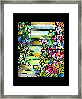 Stained Glass Tiffany Robert Mellon House Framed Print
