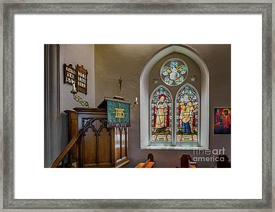 Framed Print featuring the photograph Stained Glass Uk by Adrian Evans