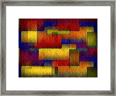 Stained Glass Wall Framed Print by Terry Mulligan