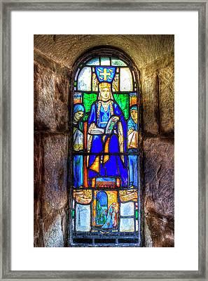 Stained Glass Window Edinburgh Framed Print by David Pyatt