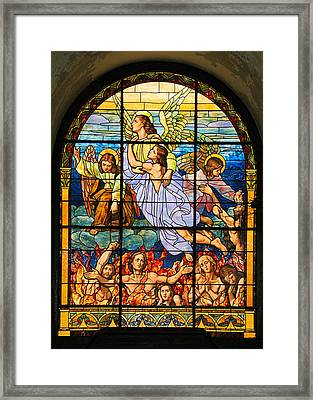 Framed Print featuring the photograph Stained Glass Window by Elizabeth Budd