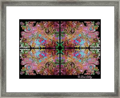 Framed Print featuring the digital art Stained Glass Window by Loxi Sibley