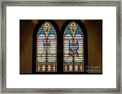 Stained Glass Windows Memorials For Capt. Z.t.henderson And Major Louise Bossieux 0339 Framed Print by Doug Berry