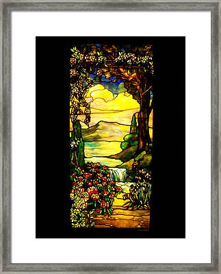 Stained Landscape Framed Print