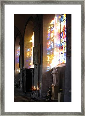 Stained  Love Framed Print by Jez C Self