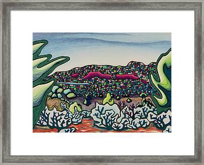 Stainglass Desert Framed Print