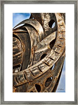 Stainless Abstract Framed Print by Christopher Holmes