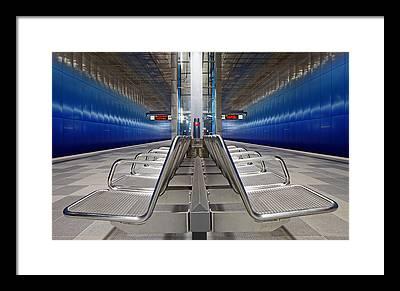 Metro Station Framed Prints