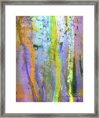 Stains Of Paint Framed Print