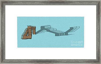 Stair 44 Long Shadow Architect Architecture Framed Print