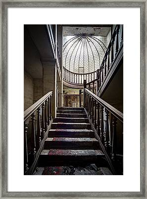 Stairs To The Light - Urban Exploration Framed Print