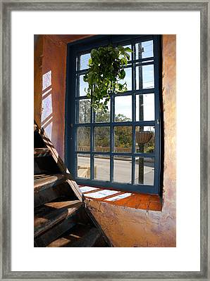 Stair Lit Framed Print by Arthur Fix