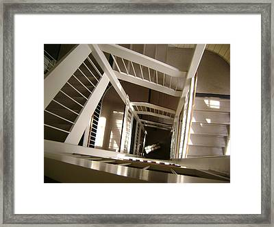 Stair Way To Knowledge Framed Print by Paul Meinerth