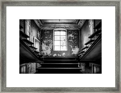 Staircase Abandoned Castle - Urban Exploration Framed Print by Dirk Ercken