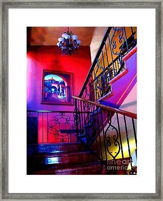 Staircase At Casa De Leyendas By Darian Day Framed Print by Mexicolors Art Photography