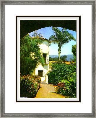 Staircase At The Biltmore Hotel, Santa Barbara Ca, 1929 Framed Print