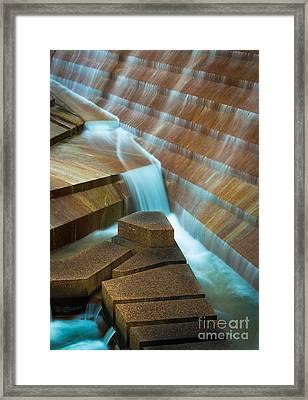 Staircase Fountain Framed Print