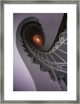 Staircase In Violet Tones Framed Print
