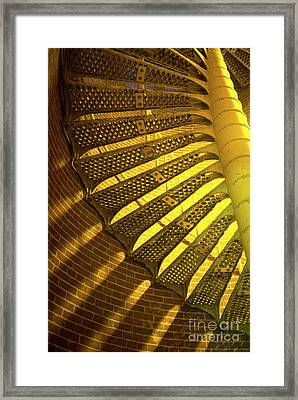 Framed Print featuring the photograph Staircase Light by John Rizzuto