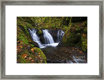 Staircase Of Water Framed Print