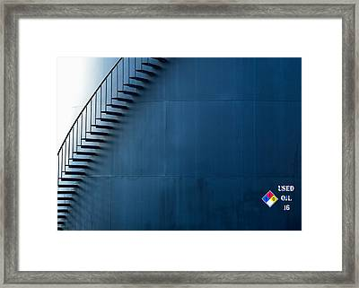 Staircase On The Side Framed Print by Todd Klassy