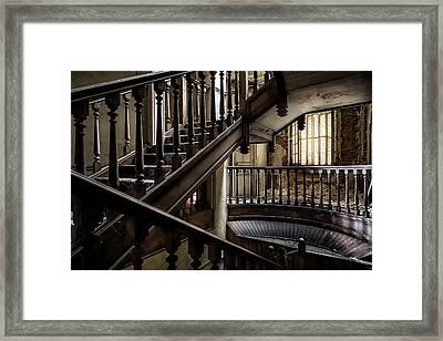 Staircase Rhythm - Abandoned Castle Framed Print