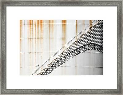 Staircase Shadows Framed Print