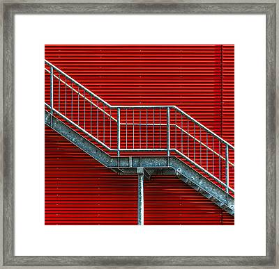 Staircase To The Red Room Framed Print by Stefan Krebs