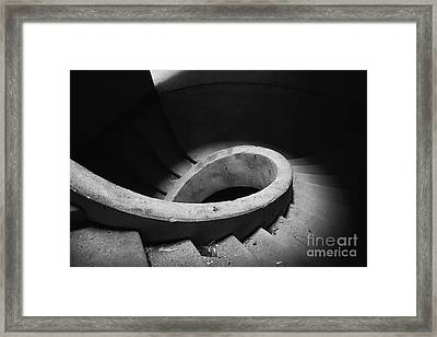 Stairs Abandoned Hotel Framed Print