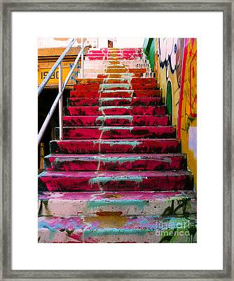 Stairs Framed Print by Angela Wright