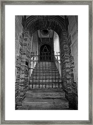 Stairs Beyond B-w Framed Print by Christopher Holmes