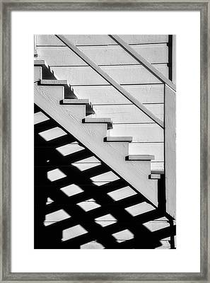 Stairs In Black And White Framed Print by Garry Gay