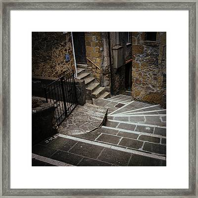 Stairs In Motion Framed Print by Cesare Bargiggia