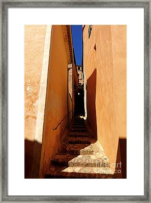 Framed Print featuring the photograph Stairs In Roussillon by Olivier Le Queinec