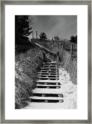 Stairs In The Dunes Framed Print by Keith Homan