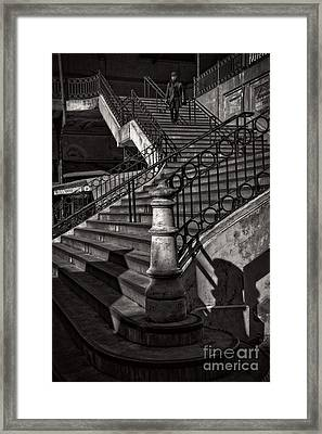 Stairs In The Markethall  Framed Print