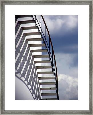 Stairs In The Sky Framed Print by David April