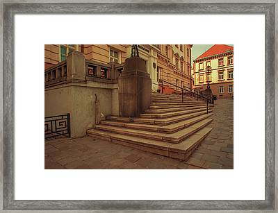 Stairs Of Old Courthouse. Znojmo Framed Print