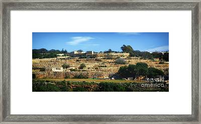 Stairs Of Rubble Framed Print by Stephan Grixti