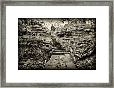 Stairs Framed Print by Sandy Keeton