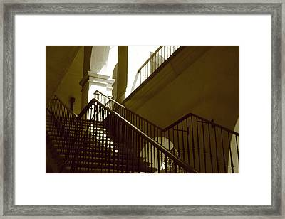 Stairs To 2nd Floor Framed Print by Nicholas J Mast