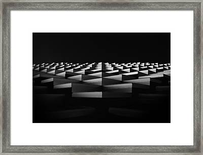 Stairs To The Light. Framed Print by Greetje Van Son