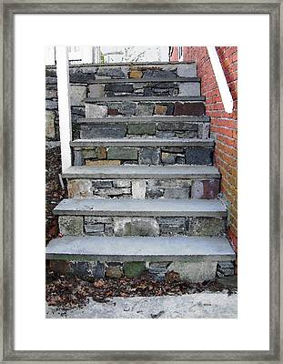 Stairs To The Plague House Framed Print