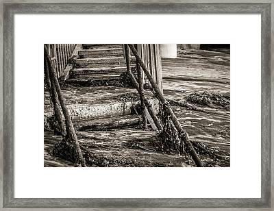 Stairs Under Sand Framed Print