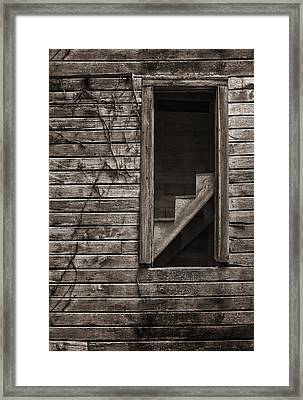Stairs With A View Framed Print